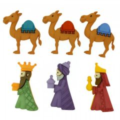 Christmas Buttons - We Three Kings