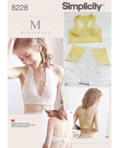 Simplicity Pattern 8228 - Madalynne Soft Cup Bra & Pants
