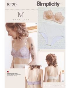 Simplicity Pattern 8229 - Madalynne Underwired Bra & Pants