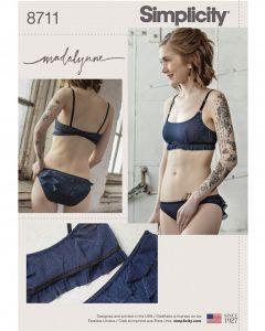 Simplicity Pattern 8711 - Madalynne Monowire Bralette & Pants
