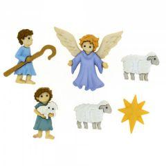Christmas Buttons - The Good Shepherd