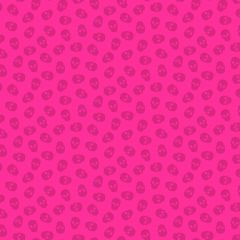 Patchwork Cotton Fabric - The Watcher - Tainted Love - Strawberry