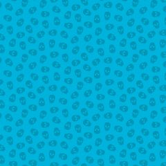Patchwork Cotton Fabric - The Watcher - Tainted Love - Blueberry