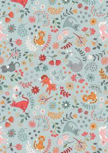 Patchwork Cotton Fabric - Purrfect Petals - Floral Cats