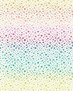 Patchwork Cotton Fabric - Over the Rainbow - Rainbow Sparkles