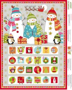 Christmas Cotton Fabric - Festive Advent Panel