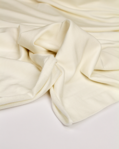 Bamboo French Terry Fabric - Ivory