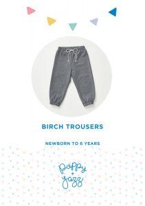 Poppy & Jazz - Paper Sewing Pattern - Birch Trousers