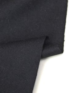 Wool Blend Suiting Fabric - Black