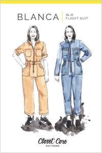 Closet Core - Paper Sewing Pattern - Blanca Flightsuit