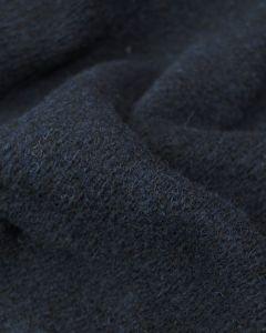 Heavy Wool Knit Fabric - Navy