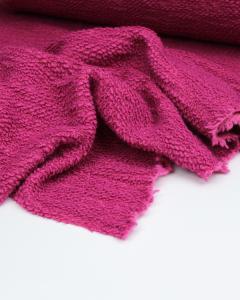 Boucle Knit Coating Fabric - Fuschia