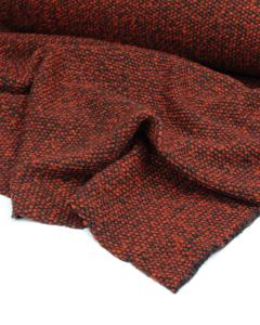Boucle Knit Coating Fabric - Rust
