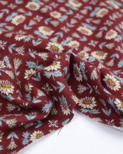 Brushed Cotton Twill Fabric - Agnes Maroon