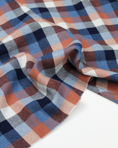 Brushed Cotton Twill Fabric - Hudson Check