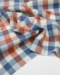 Brushed Cotton Twill Fabric - Parker Check
