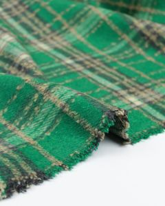Brushed Coating Fabric - Emerald Plaid