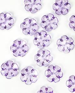 Button - Crystal Daisy Lilac - 24mm