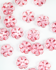 Button - Crystal Daisy Pink - 24mm