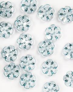 Button - Crystal Daisy Sky - 24mm