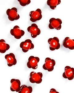Button - Orla Flower Red - 12mm