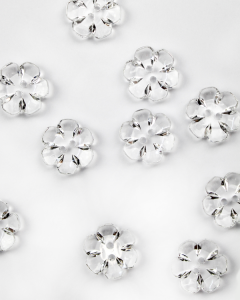 Button - Crystal Daisy Clear - 24mm