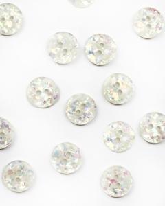 Button - Disco Terrazzo White - 15mm
