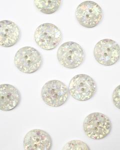 Button - Disco Terrazzo White - 20mm