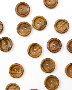 Button - Olive Wood - 18mm