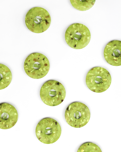 Button - Terrazzo Lime - 22mm