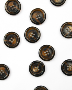 Button - Tortoiseshell Tabby - 22mm