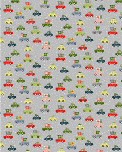 Christmas Patchwork Fabric - Driving Home