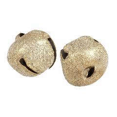 Jingle Bells - 30mm - Frosted Gold
