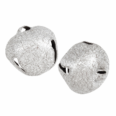 Jingle Bells - 30mm - Frosted Silver