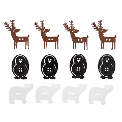 Christmas Buttons - Festive Animals