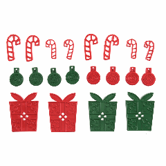 Christmas Buttons - Presents & Candy Canes