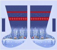 Patchwork Christmas Fabric - Tomten's Christmas Stocking Panel