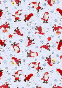 Patchwork Christmas Fabric - Scatter Tomten Day