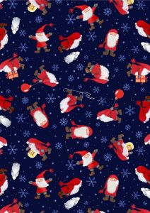 Patchwork Christmas Fabric - Scatter Tomten Night