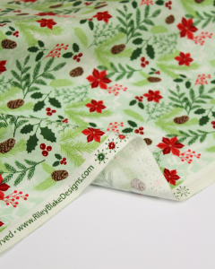 Christmas Patchwork Fabric - Comfort & Joy - Festive Foliage