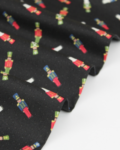 Christmas Patchwork Fabric - Scatter Soldiers Charcoal