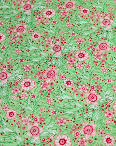 Christmas Patchwork Fabric - Merry & Bright - Winter Blooms Green