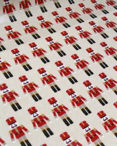 Christmas Oilcloth Fabric - Nutcracker