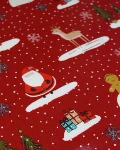 Christmas Oilcloth Fabric - Snow Day
