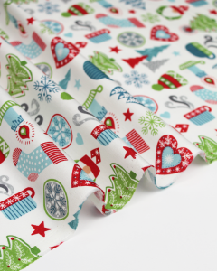 Christmas Patchwork Fabric - Hygge Christmas - Hygge Ivory