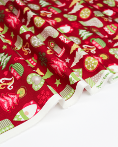 Christmas Patchwork Fabric - Hygge Christmas - Hygge Red
