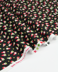 Christmas Patchwork Fabric - Hygge Christmas - Scatter Tonttu Coal