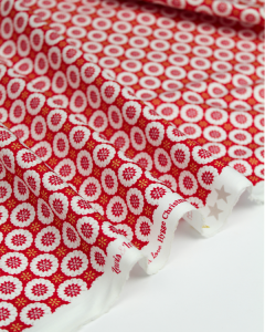 Christmas Patchwork Fabric - Hygge Christmas - Snowflakes Red