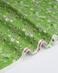 Christmas Patchwork Fabric - Hygge Christmas - Tonttu Green