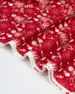 Christmas Patchwork Fabric - Hygge Christmas - Tonttu Red